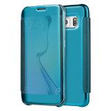 Caisse en cuir de téléphone de Mirro de placage neuf de l'arrivée 2017 pour Samsung S7
