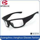 Grandes lunettes de soleil noires de sport de bâti pour la lunetterie de recyclage de golf de pêche