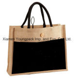 Venda Por Atacado Custom Printed Large 100% Biodegradable Jute Shopping Tote Bags