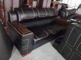 Mobiliário doméstico Sofá de sala de estar moderno com couro italiano