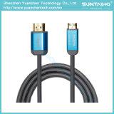 Tipo de alta velocidade a de HDMI para datilografar o cabo de C com Ethernet