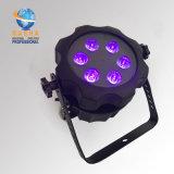 Rasha Aquos IP65 kann wasserdichter 6*18W 6in1 Rgbaw batteriebetriebener LED NENNWERT Licht-Gussaluminium LED UVNENNWERT 7/12CH
