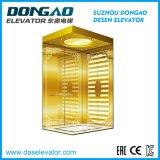 Elevatore di lusso del passeggero con la decorazione dorata acquaforte