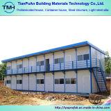 Casa prefabricada de acero ligero de techo plano