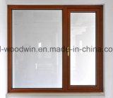 Fenêtre en bois massif avec verre faible vitrage / verre teinté / verre de revêtement