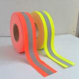 4つの証明書、400ミクロンとオレンジ常置Flame-Retardant警告の反射テープ