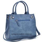 Sacchetti di cuoio di modo dell'unità di elaborazione della borsa delle donne di colore del blu marino con il raccoglitore