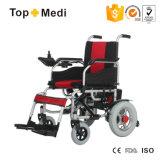 Equipamiento médico de Topmedi plegable el sillón de ruedas electrónico China de la energía eléctrica