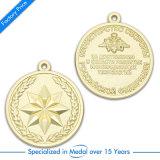 Médaille de basket-ball en gros Gold 3 D avec ruban