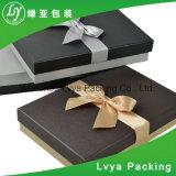 Rectángulo de papel de empaquetado de la insignia de la cinta del encierro del regalo de encargo de la joyería