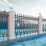 Revêtement en poudre noire galvanisé soudés Jardin Clôture Barrière de sécurité du panneau de clôture de clôtures anti montée