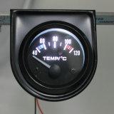 "2 "" 52mm 12Vユニバーサル車のポインターオイル温度の臨時雇用者のゲージ40-120白いLED"
