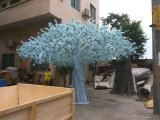 결혼식 훈장 섬유유리 백색 인공적인 벚나무