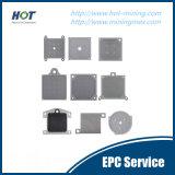 Plaque professionnelle de filtre-presse de membrane de pression et de température pp