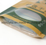 L'abitudine del nuovo prodotto ha stampato di plastica si leva in piedi in su il sacchetto a chiusura lampo con il marchio per alimento