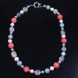 La moda de joyería de bolas de piedra y de agua dulce collar de perla perla