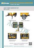 комплект генератора силы 10kVA тепловозный с колесами