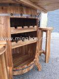 Het houten Nieuwe Rek de V.S. van het Wijnvat van het Ontwerp met Lijst en Banken