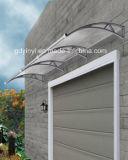 Los materiales de construcción de la puerta de láminas de policarbonato techos Canopy Toldos Hoja Cortinas de lluvia (gratis)