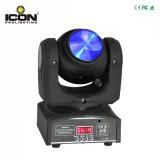 4PCS 10W LEDの党のための二重表面段階の移動ヘッドライト