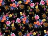 까만 꽃에 의하여 인쇄되는 나일론 수영복 직물 (ASQ093)