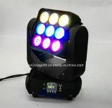 9PCS 10W LED Träger-Wäsche-bewegliche Hauptmatrix-Beleuchtung