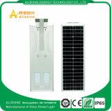 Luz de rua solar ao ar livre quente do diodo emissor de luz da lâmpada de painel solar da iluminação da potência solar de sensores de movimento da venda