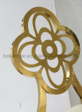 Projeto simples traseiro dourado que janta a cadeira para o restaurante
