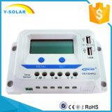 régulateur Dual-USB/2.4A Vs1024au d'énergie solaire d'affichage à cristaux liquides de 12V/24V Epsolar 10AMP