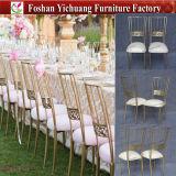 De Stoel van Tiffany van de Gebeurtenis van het Huwelijk van het metaal/Gouden Dwars AchterStoel voor Huwelijk yc-A251