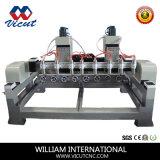Máquina de madera de Engrarving del ranurador del CNC del cilindro con la pista rotatoria (VCT-1590R-4H)