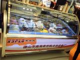 Congelatore su ordinazione della visualizzazione del gelato di apparenza