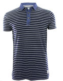 Hommes New Design Knitting Denim Fashion Stripe Polo Top Vêtements (EE17053)