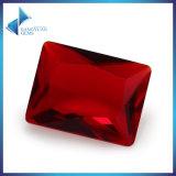 Steen van het Glas van Retangle de Rode voor het Maken van Juwelen