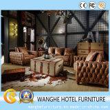 Presidenza del sofà di svago della sede del cuoio di legno solido per l'hotel