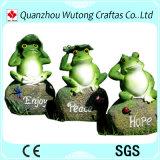Figurine encantador da râ da postura de assento da resina da decoração do jardim para a venda