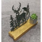 Wooden&Galvanized Haupttisch-Dekoration-Ausgangsdekoration