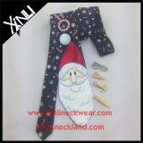 Poliéster personalizado impreso doble cara reversible Navidad corbata