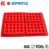 Moulages de silicones de fondant de carter de chocolat du moulage 4-Cavity de gaufre de silicones pour le gâteau