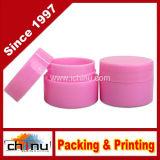 7ml (0.25oz)ピンクの丈夫で厚い二重壁のプラスティック容器の瓶