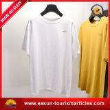 Camisa feita sob encomenda do polo T do espaço em branco do algodão com o bolso dois