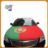 Dekking van de Kap van de Auto van de Vlag van Spandex van de Douane van Huiyi 4*6 de Nationale Openlucht