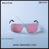 Изумлённые взгляды лазера Alexandrite O.D5+@740-850nm/защитные с рамкой 36