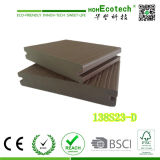 Decking recouvert respectueux de l'environnement employé couramment extérieur 138*23mm de WPC