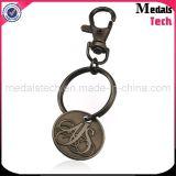楕円形の形のカスタム金属の安く一義的な金属の骨董品Keychains