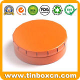 Круглый контейнер олова металла с крышкой Click, оловом Clac-Clic Mint