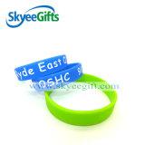 La gomma del Wristband impressa forma fisica del silicone mette in mostra il braccialetto