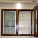 알루미늄 여닫이 창은 조정가능한 셔터 삽입을%s 가진 유리창을 윤이 났다