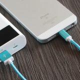O metal de nylon trançou o Android de 1.5m para cabo do USB dos dados do carregador de Samsung o micro