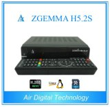 SatellietOntvanger FTA van Zgemma H5.2s van de Tuners dvb-S2+S2 van H. 265/Hevc de Tweeling voor de MultiKanalen van TV
